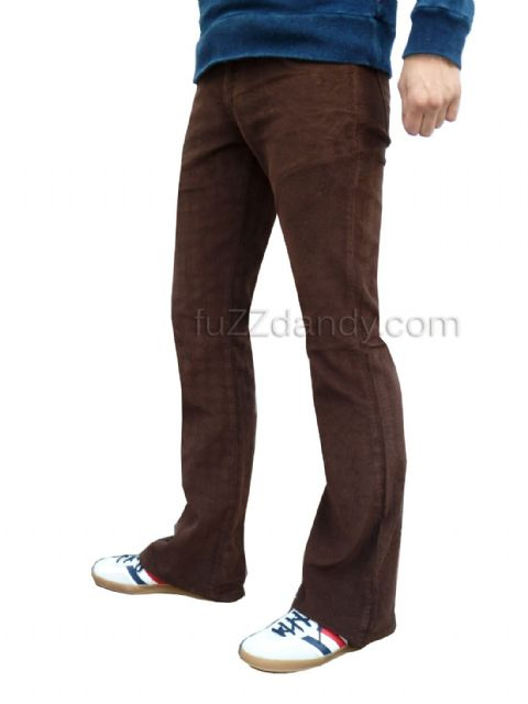 """Cochise"" BOOTCUT CORDS - Boot Cut Corduroy Cochise Trousers (BROWN)"
